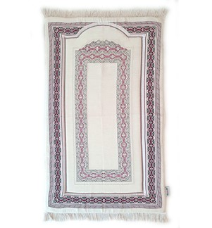 Prayer Mat Memory Foam- Chenille-Off White-A