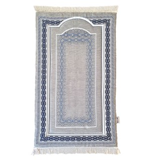 Prayer Mat Memory Foam- Chenille-Grey-A