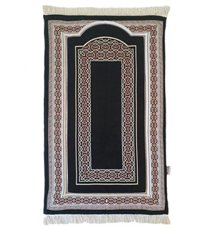 Prayer Mat Memory Foam- Chenille-Black-A