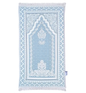 Prayer Mat Memory Foam- Solid-Blue