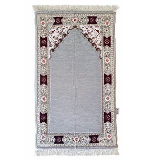 Prayer Mat Memory Foam-Chenille_Grey-B